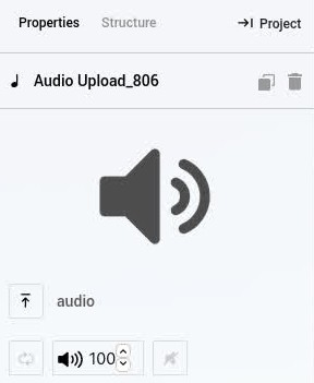 Audio Upload Element Properties